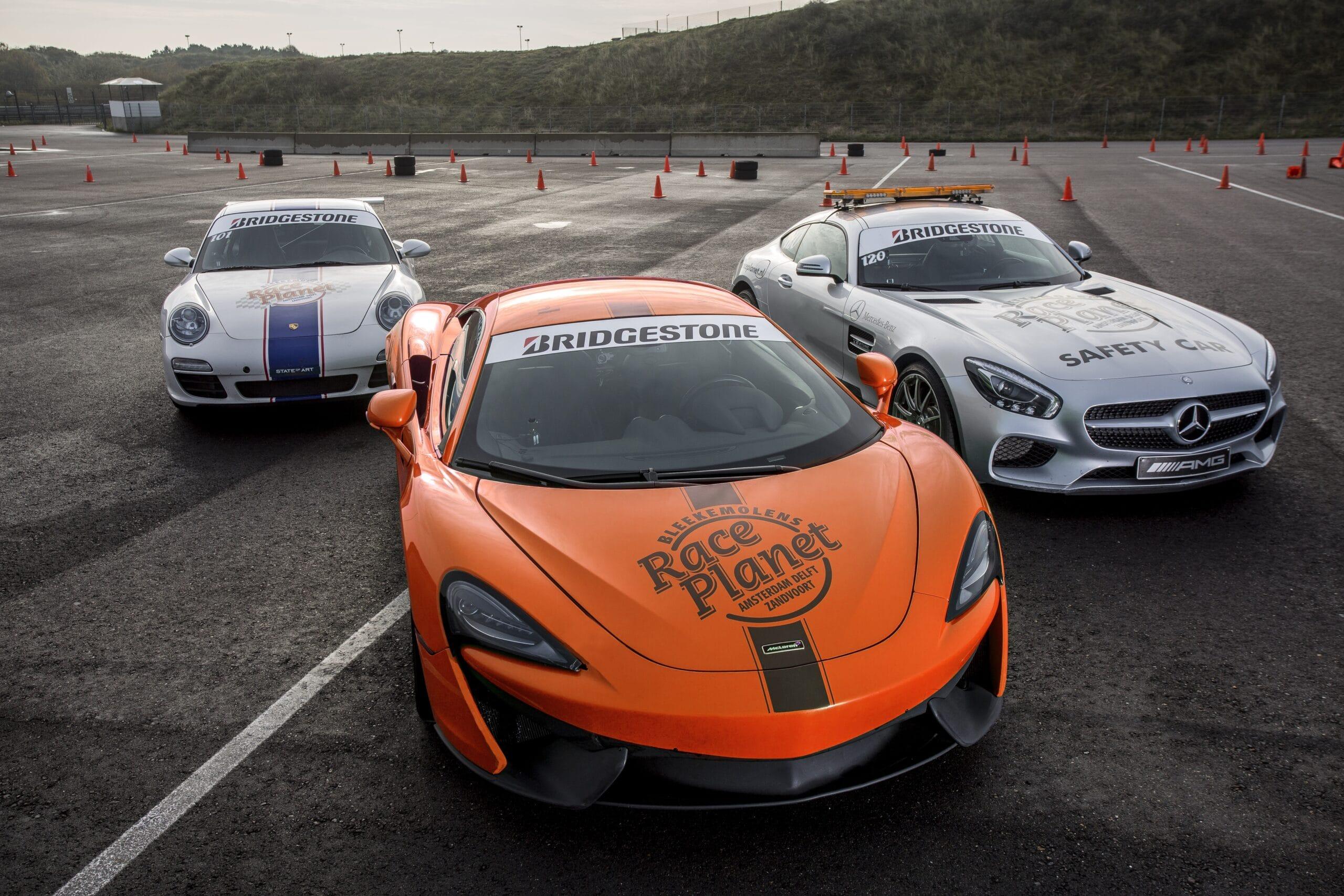 Porsche 911, Mercedes-AMG GT Coupé en McLaren 540c van de Exclusive VIP experience op Circuit Zandvoort bij Race Planet.